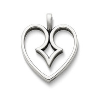 James Avery The Kiss Heart Pendant - Silver