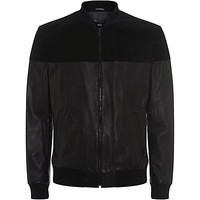 BOSS Black Suede and Leather Jacket