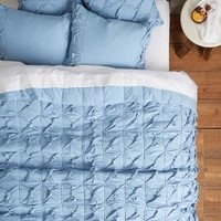Twined Jersey Quilt by Lazybones Blue