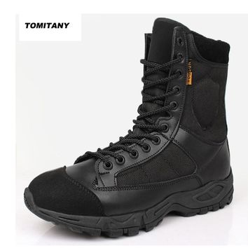 Outdoor Camping Hiking Boot Men Professional Lace Up Climbing Trekking Hunting Shoe Man Military Tactical Boots Mens