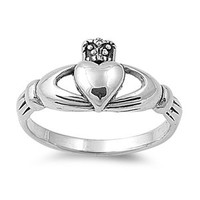925 Sterling Silver Claddagh Loyalty Ring