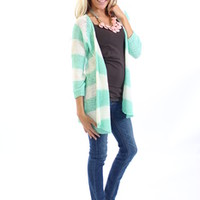 Mint Never Say Goodbye Knit Sweater