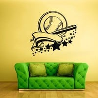 Wall Vinyl Sticker Decals Decor Art Bedroom Baseball Pitcher Ball Wall Hole Sport Stars (Z1999)