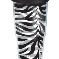 Zebra on Clear with Black Lid | 24oz Tumbler | Tervis®
