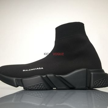Balenciaga SPEED TRAINER Stretch knit trainer with black textured sole 220 Women And Men Sneaker
