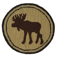 Great Moose Hooked Wool Chair Pads