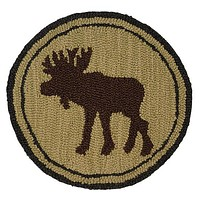 "Great Moose Hooked Wool Chair Pads 14"" in diameter"