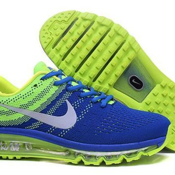Nike Air Max 2017. Black, Blue, Green & White. Men's Running Shoes Sneakers