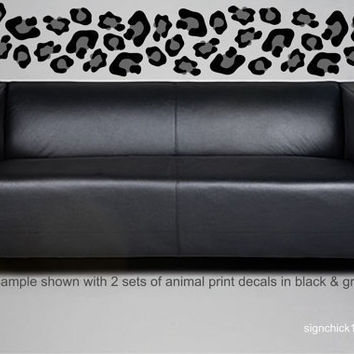 Animal Print wall decals LARGER SIZE Leopard Spots set of 30 decals choose colors