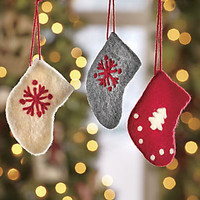 Set of 3 Stocking Ornaments