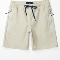 Modern Amusement Waterproof Zipper Shorts - Mens Shorts - Brown
