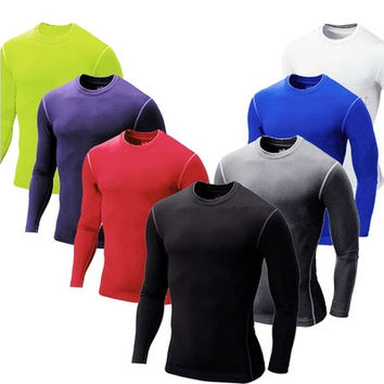 Men Boy Compression Base Layer Tight Top Shirt Under Skin Long Sleeve Sport Gear [9305644359]
