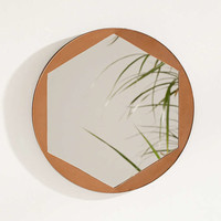 Metal Overlay Hexagon Mirror - Urban Outfitters