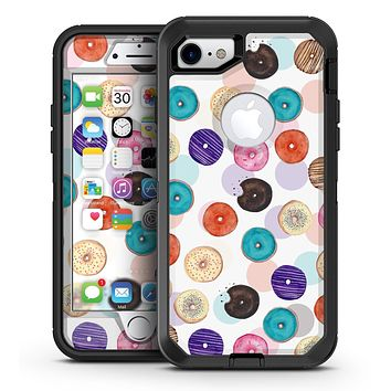 The Colorful Donut Overlay  - iPhone 7 or 7 Plus OtterBox Defender Case Skin Decal Kit