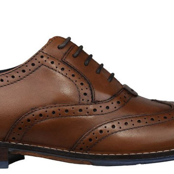 Hush Puppies Mens Dress Shoes Style Brogue Tan Leather H103738