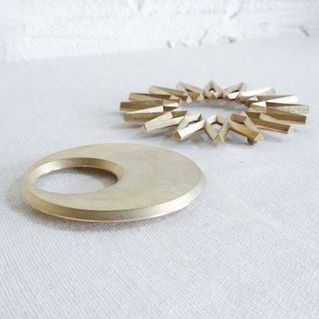 Galaxy and Moon Brass Trivets