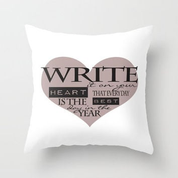 Write It On Your Heart Design Throw Pillow by secretgardenphotography [Nicola] | Society6