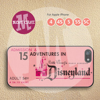 iPhone cases iPhone 5 case iPhone 5s case iPhone 4s case iPhone 5c case iPhone 4 case Disney iPhone case Retro Pink Disneyland Ticket MT-129