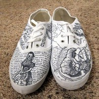 $110.00 Artsy Urban Outfitters Custom Shoes by ASquaredSharpieShoes