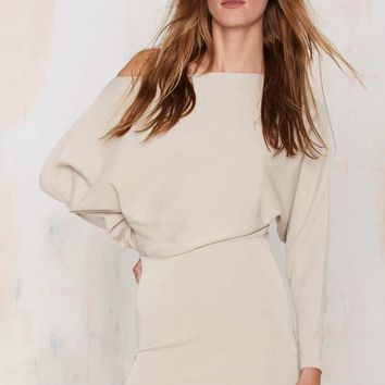 Lioness Sonya Off-the-Shoulder Knit Dress