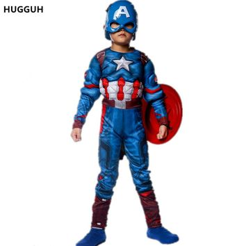 New Captain America Costume Boys Children