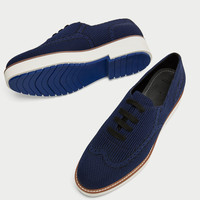 FABRIC PLATFORM DERBY SHOES DETAILS