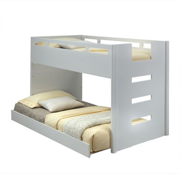 Acme 37470 Deltana white finish wood twin loft bed
