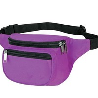 Yens® Fantasybag 3-Zipper Fanny Pack-Purple FN-03