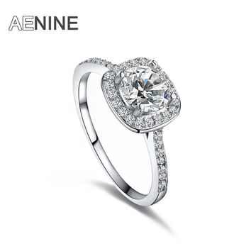 AENINE Delicate Crystal Cubic Zirconia Rings Jewelry Wedding Ring Best Gift For Women Luxury Austrian Crystal Ring L101009438