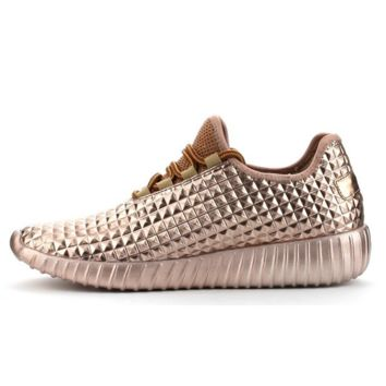 Faux Feezy Rose Gold Trainers