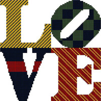 Love Cross Stitch Pattern to fit 8 x 10