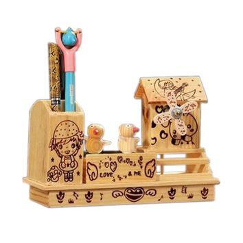 Nice Wooden Rotating Chick Music Decoration Clockwork Music Boxes