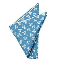 Tucker Blue Floral Pocket Square