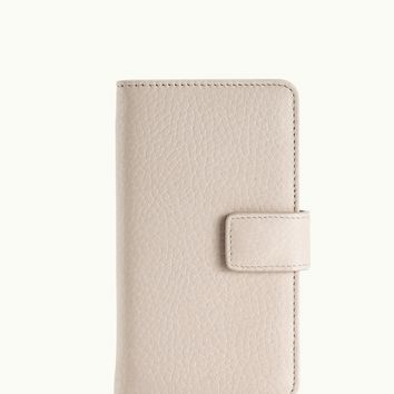 GiGi New York iPhone 6 Wallet Case Ivory Pebble Grain Leather