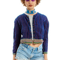 Vintage 90's It's a Snap Striped Top - XS/S
