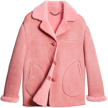 Burberry Shearling Oversized Jacket - Farfetch