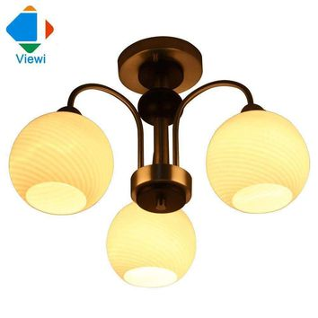 Modern European chandelier ceiling lamp white glass bubble lamp shades lamp holder (E27 * 3pcs) for living room Free DHL