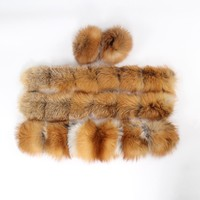 Large hooded furs real fox fur collar front fly and cuff