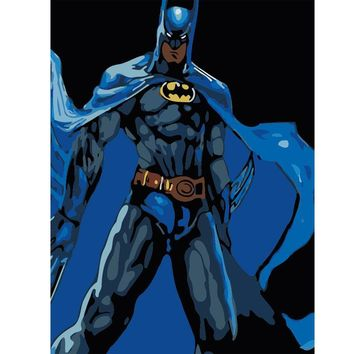 Batman Dark Knight gift Christmas Hot Oil Painting Picture coloring By Numbers DIY Handmade Wall Art Canvas Figure Paint Home Decor Batman for living room gift AT_71_6