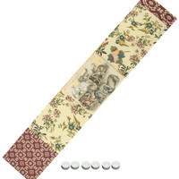 """Manual Woodworkers UFD72 Field Day Rabbit Country Table Runner 13""""x72"""" with 6-Pack of Tea Candles"""