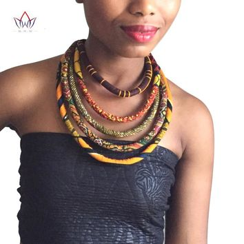African Wax Print Colorful Necklace Ankara Knot Necklace African Print