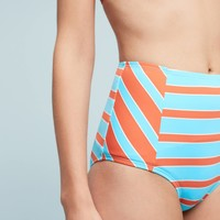Devon Seamed High-Waisted Bikini Bottoms