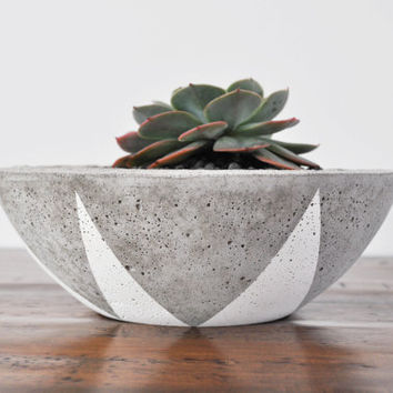 Concrete Planter Bowl - Small
