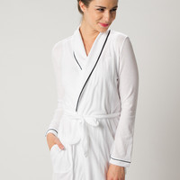 Organic Cotton Short Robe - Only Hearts