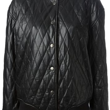 Blk Dnm quilted leather jacket