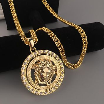 Boys & Men Fashion Hip Hop Versace Rotate Necklace
