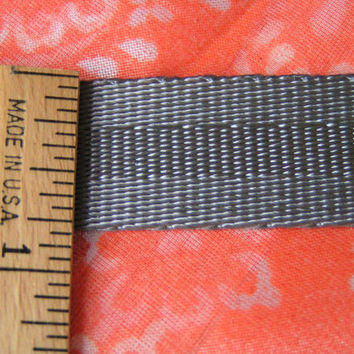 Gray All Nylon Webbing, A lovely webbing style with many uses, texture soft and smooth. Medium or Standard Weight Webbing.