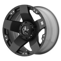 "XD Series by KMC Wheels XD775 Rockstar Matte Black Wheel (20x8.5""/8x165.1mm, +10mm offset)"