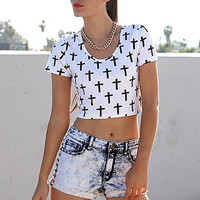 FOREVER 21 Studded Bleached Denim Shorts Denim Washed 26