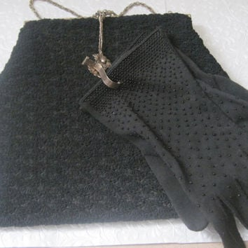 vening Bag/Purse/Gloves/Glove Holder/Beaded Gloves/Vintage Accessories/Special Occasion/Collectible/1950's Mid Century/New Lower Price